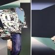 8 angles, 2016, huile sur toile, 162,5 x 227 cm
