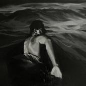 M. B. à la mer, 2008, huile sur toile, 110 x 150 cm