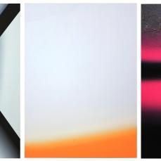 Sans titre, 2012, huile sur toile, polyptiques, 3 éléments de 150 x 110 cm