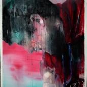 H. G. et son enfant 1, 2018, huile sur papier, 60 x 50 cm