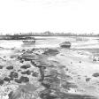 Vue de Djerba (marée basse), 2007, fusain sur papier, 50 x 60 cm