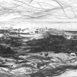 Vue de Djerba (barque), 2007, fusain sur papier, 50 x 60 cm