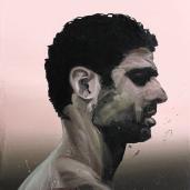 H. G. (profil), 2011, huile sur toile, dimensions perdues