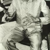 M. K., 2007, fusain sur papier, 150 x 90 cm