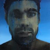 H. G. (aquarium), 2011, huile sur toile, dimensions perdues