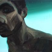 H. G. (étude), 2011, huile sur toile, dimensions perdues