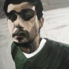 H. G (dans l'atelier, étude), 2010, huile sur toile, dimensions perdues