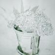 Plantes graces 3, 2006, encre sur papier, 60 x 50 cm