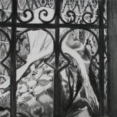 D. T., 2007, fusain sur papier, 100 x 100 cm