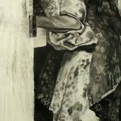 Grand-mère M., 2007, fusain sur papier, 150 x 90 cm