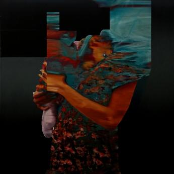 Objet K16 # I87, 2019, huile sur toile, 144 x 100 cm