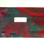 Fragments #2, été 2018, huile sur papier, 32 x 51 cm