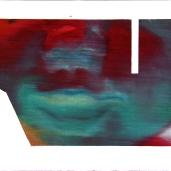 Fragments #5, été 2018, huile sur papier, 32 x 51 cm