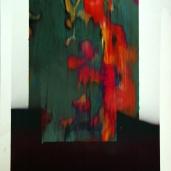 Fragments #6, été 2018, huile sur papier, 51 x 32 cm