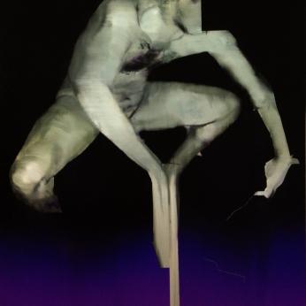 Objet HG Sud, 2019, huile sur toile, 152, 5 x 121, 5 cm