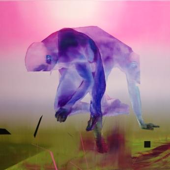 Partir et départir, 2019, huile sur toile, 121, 5 x 152, 5 cm