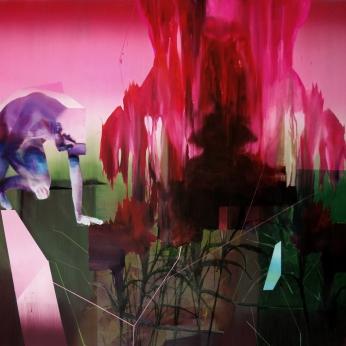 Ascenssion, 2019, huile sur toile, 133 x 182 cm