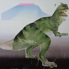 Préhistoire, 2019, huile sur toile, 126 x 120 cm