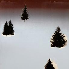 Forêt noire, huile sur toile, 140 x 90 cm