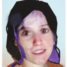 Sans titre (portrait), 2019, peinture à l'huile sur impression numérique, 25,5 x 19 cm