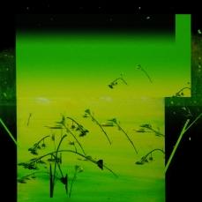 Tronc, 2019, peinture à l'huile sur impression numérique, 30, 5 x 46 cm